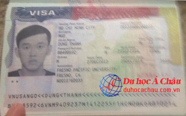 Visa du học Mỹ Ngô Thành Dũng – Công ty du học Á Châu