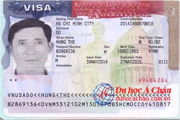 Visa du lịch Mỹ Đỗ Thế Hùng – Công ty Á Châu