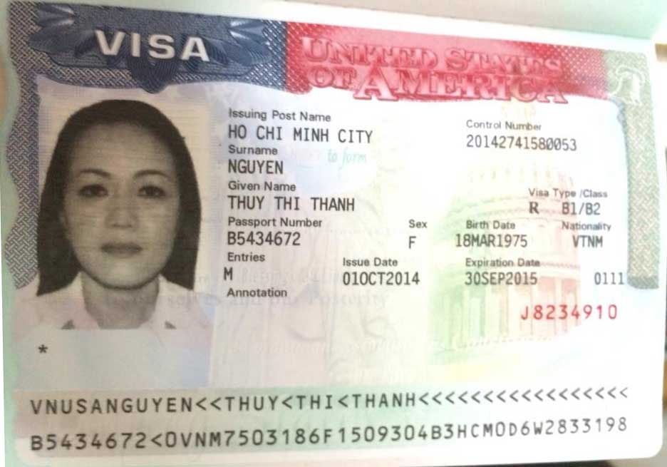 Visa du lịch Mỹ Nguyễn Thị Thanh Thủy – Công ty Á Châu