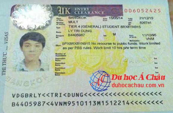 Visa du học Anh: HS Lý Trí Dũng – Công ty du học Á Châu