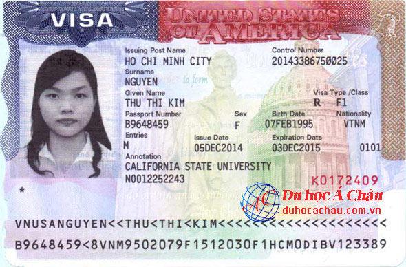 Visa du học Mỹ – Nguyễn Thị Kim Thu – Du học Á Châu