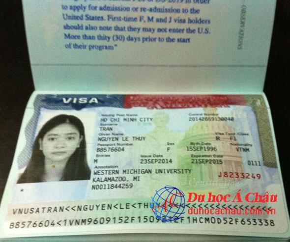 Visa du học Mỹ – Trần Lê Thủy Nguyên – Công ty du học Á Châu