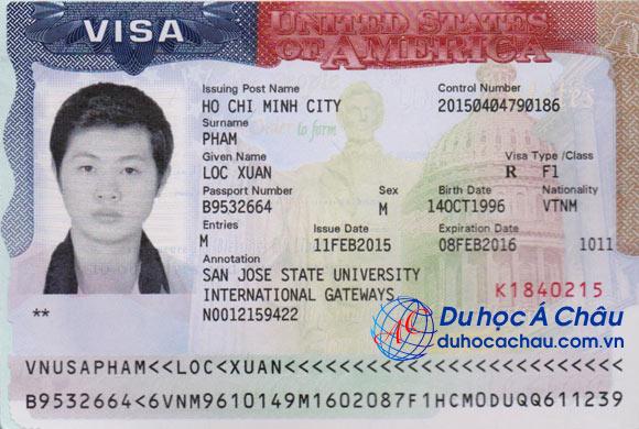 Visa du học Mỹ 2015 Phạm Xuân Lộc – Tư vấn du học Á Châu
