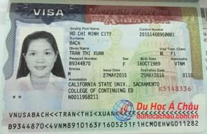 visa du học Mỹ trường California State University - xuân trân
