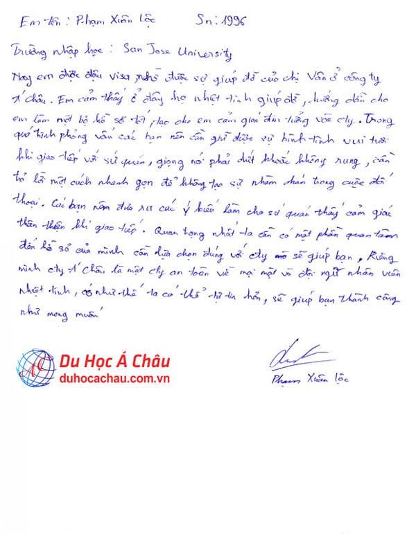 Cảm nhận của sinh viên Phạm Xuân Lộc – Du học Mỹ