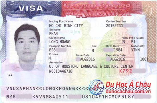 Visa du học Mỹ – Phan Hoàng Long – Trung tâm Á Châu