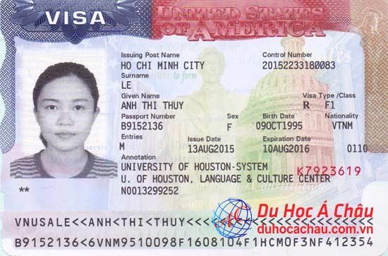Visa du học Mỹ – Lê Thị Thúy Anh trường University of Houston