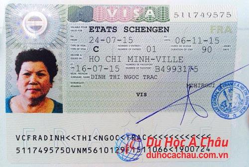 Visa du lịch Pháp – Khách hàng Đinh Thị Ngọc Trác