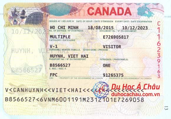 visa du lịch canada, du lịch canada thăm con