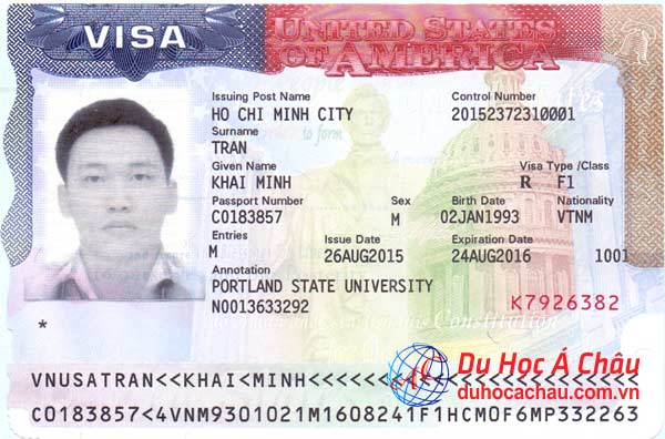 Visa du học Mỹ trường Portland State University – Trần Minh Khải