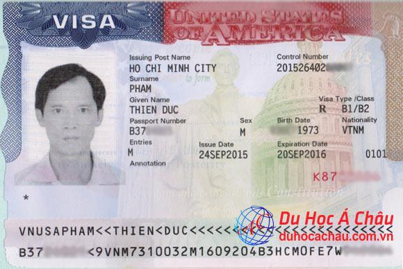 Visa du lịch Mỹ thăm con du học – Phạm Đức Thiện