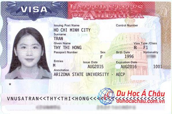 Visa du học Mỹ trường Arizona State University – Trần Thị Hồng Thy
