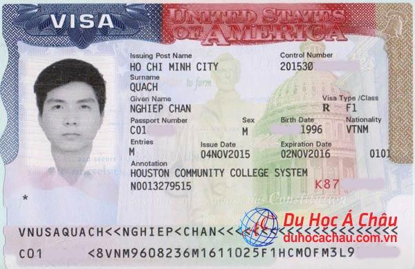 Visa du học Mỹ trường Houston Community College – Quách Chấn Nghiệp