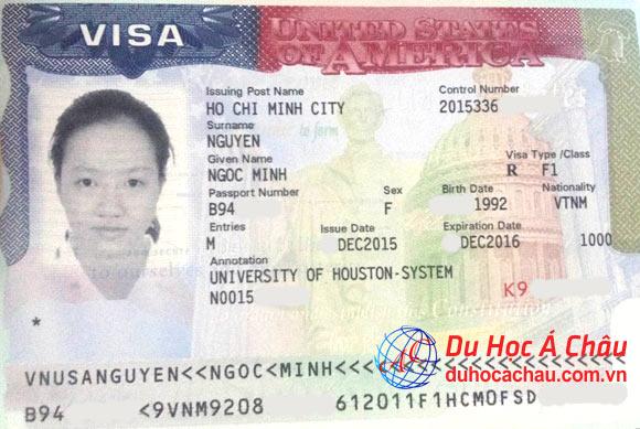 Visa du học Mỹ trường University of Houston – Nguyễn Minh Ngọc