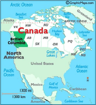 du học canada 2017, tỉnh bang British Columbia