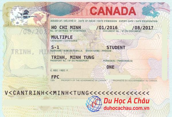 Visa du học Canada 2016 – Trịnh Minh Tùng