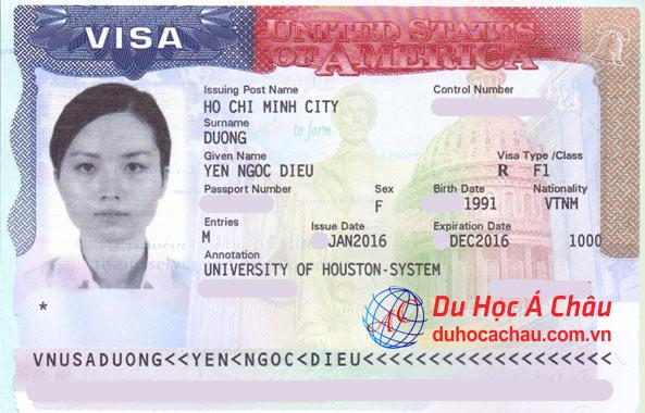Visa du học Mỹ – Dương Ngọc Diệu Yến