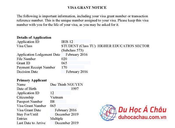 visa du học úc, du học tại úc 2017