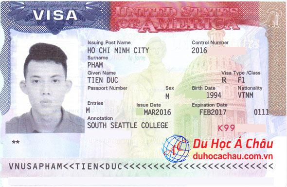 Xin gia hạn visa du học Mỹ thành công – Phạm Đức Tiến