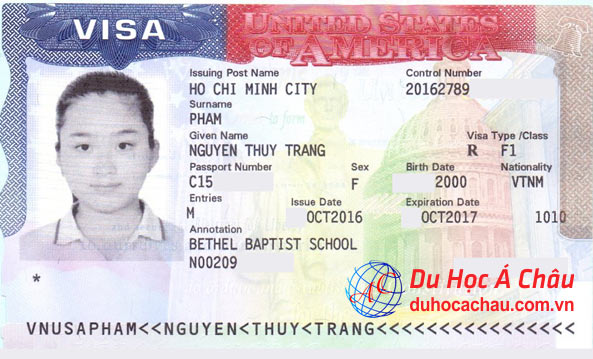 Visa du học Mỹ chương trình THPT trường Bethel Baptist School
