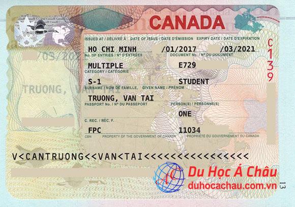 visa du học Canada 2017