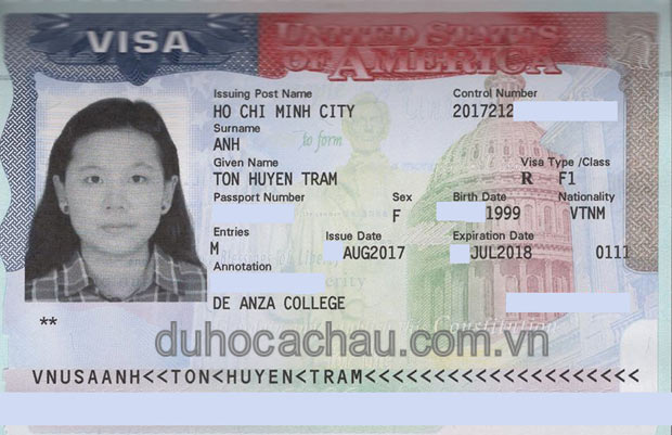Visa Du Hoc My