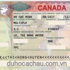 Chúc mừng visa du học Canada diện CHỨNG MINH TÀI CHÍNH
