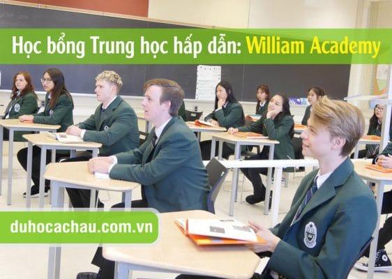 William Academy, học bổng trung học Canada