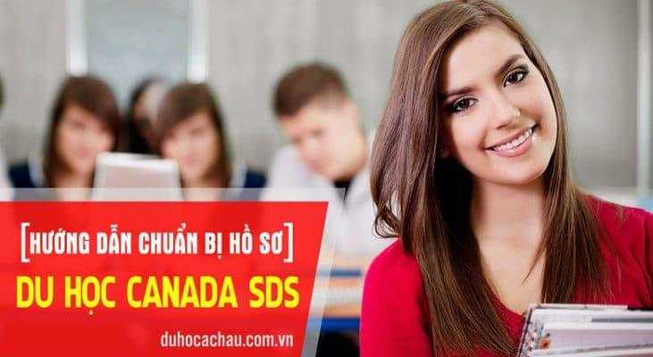 thủ tục du học canada sds, hồ sơ du học canada sds