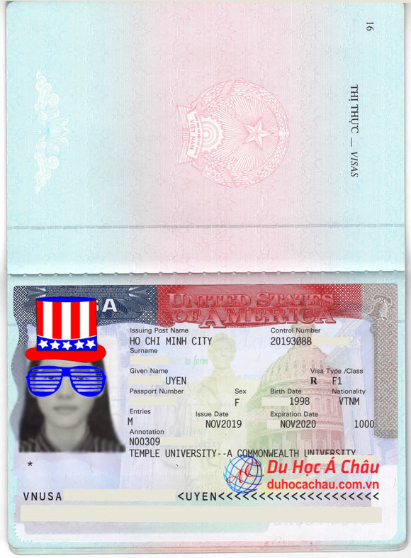 Visa Du Hoc My 2020