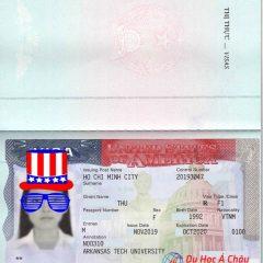 Cầm được cái visa đi Mỹ em hạnh phúc vô cùng!