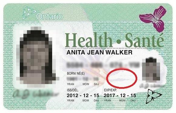 Thẻ bảo hiểm y tế Ontario Canada